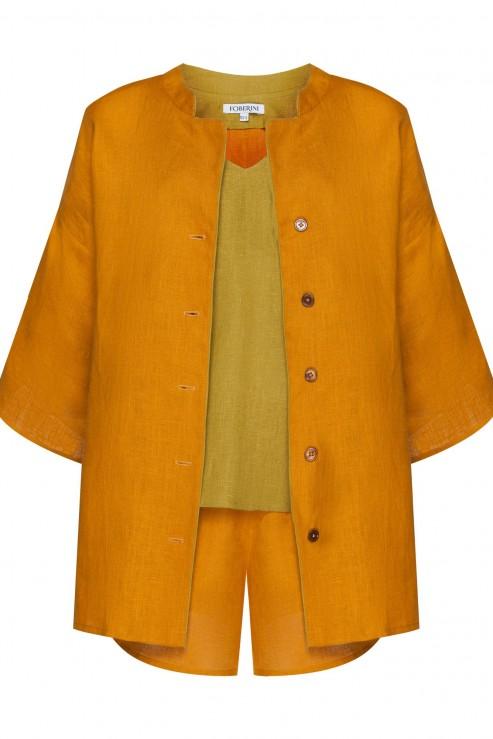 """Dream"" amber linen pajamas set photo"