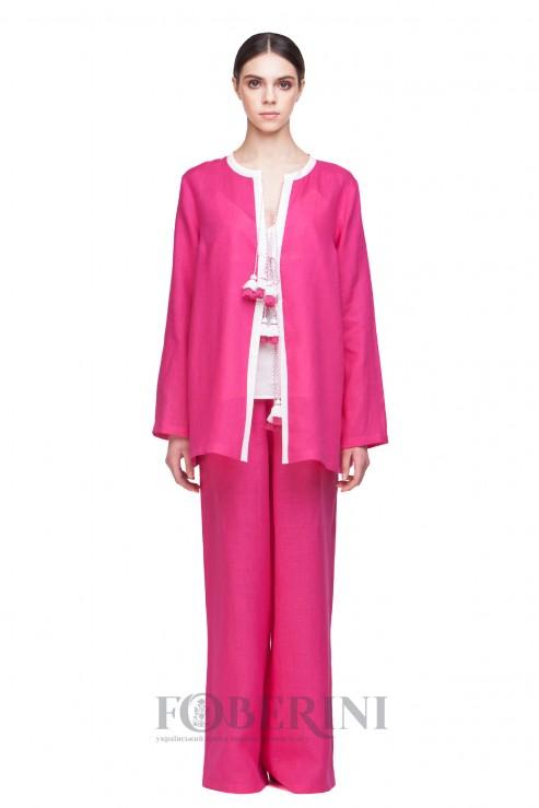 """Dream"" pink linen pajamas set photo"