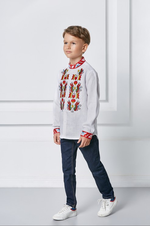 """""""Sich"""" kids white embroidery photo"""