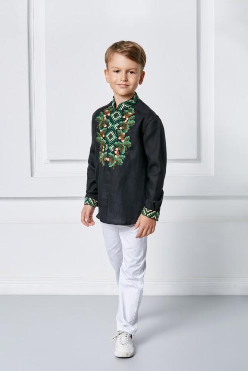 """Bogdan""  kids black embroidery photo"