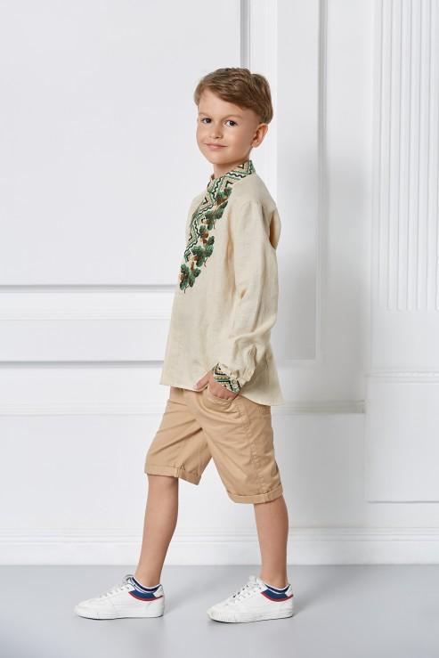 """Bogdan"" embroidery kids beige  photo"