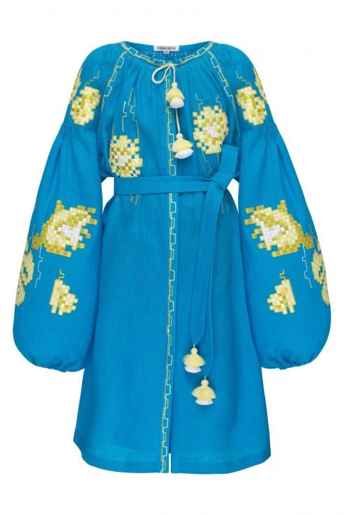 """""""Камелія"""" дитяча бірюзова сукня"""