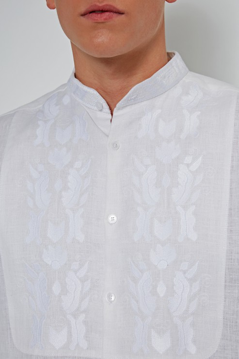 """Sich"" white shirt with white embroidery photo"