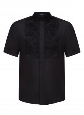 """""""Nazariy""""  black short sleeve shirt"""