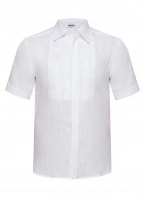 """Nazariy""  white short sleeve shirt"
