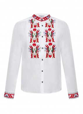 """""""Sich"""" white embroidery with colorful ornament"""