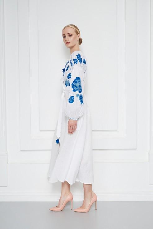 """""""Camelia""""  white midi dress photo"""