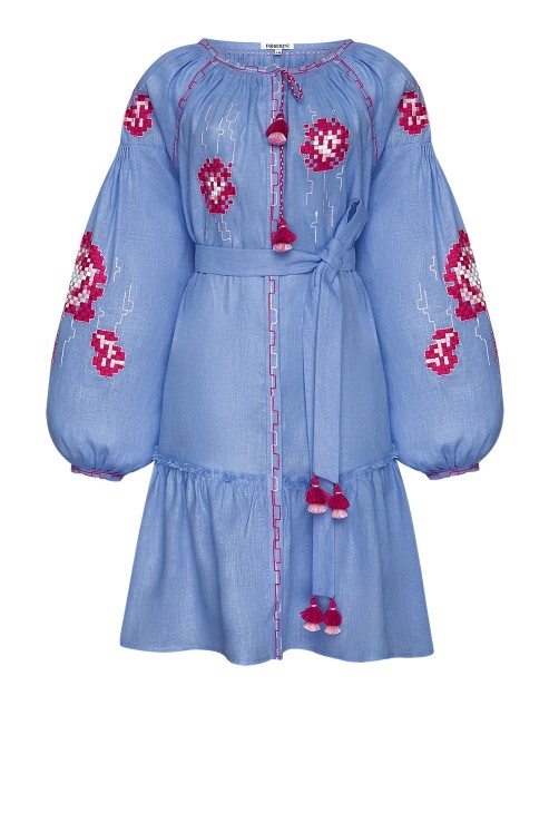 """Camellia"" violet mini dress photo"