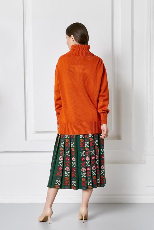 """Petra"" orange sweater photo"
