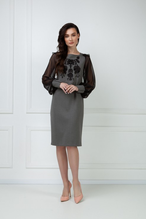 """Varvara"" gray dress  photo"