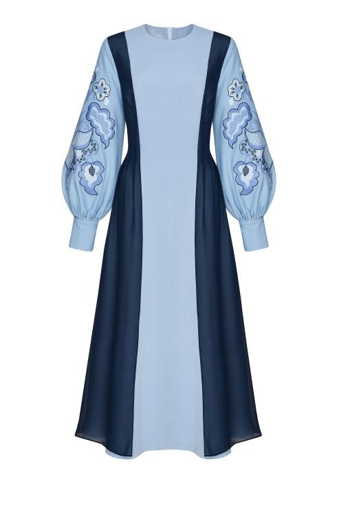 """Stephanie"" blue dress photo"
