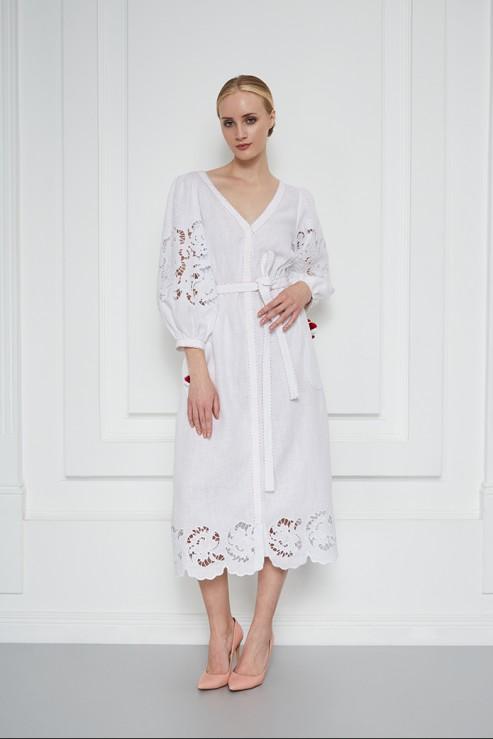 """""""Iren"""" white midi dress photo"""