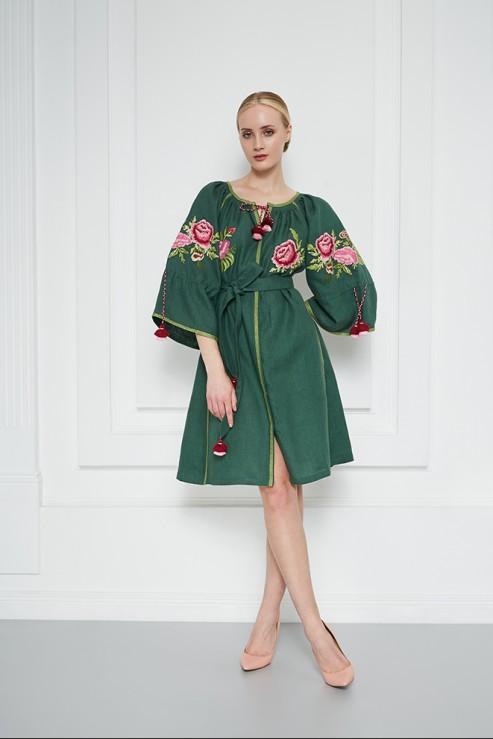 """""""Flora"""" green mini dress photo"""