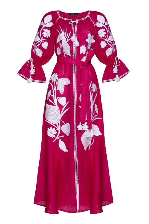 """Eden"" fuchsia maxi dress photo"