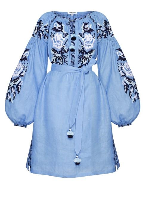 """Myroslava"" blue mini dress photo"