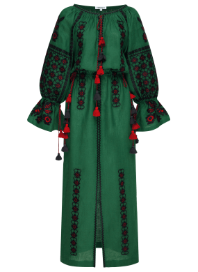 "Maxi dress green ""Green Grove"""