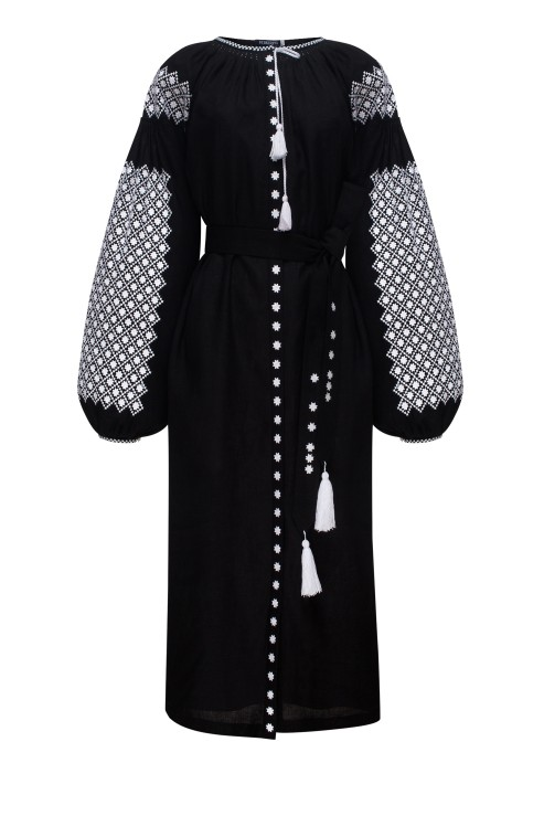 """Moonlight"" black midi dress photo"