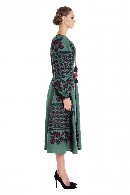 "Midi-dress green ""Green Chic"""
