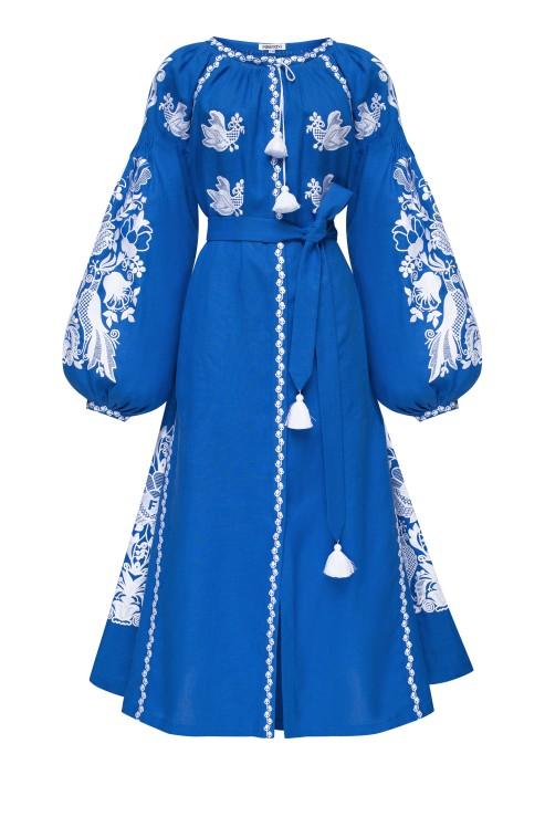 """Blue Bird"" blue midi dress photo"