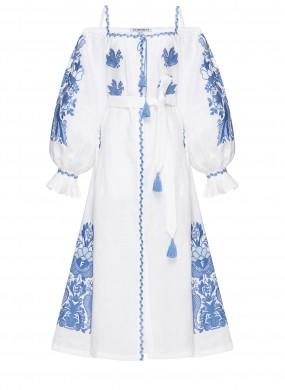 """Midi dress white """"White Peacock"""""""