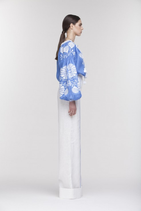 "Blouse blue ""Blue Lily"" photo"