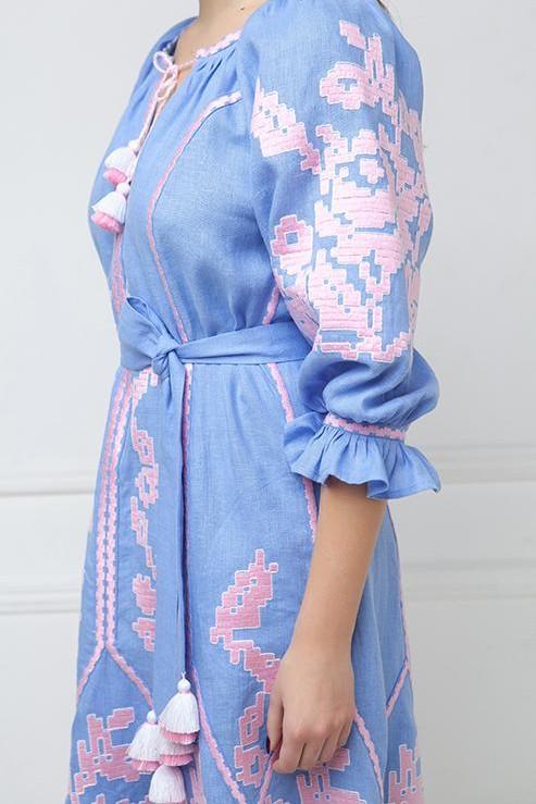 """""""Eva"""" midi-dress blue  photo"""