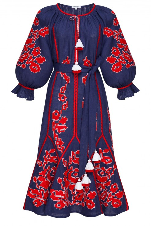 """""""Maya"""" blue midi dress"""