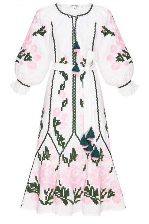 """""""Marta"""" white midi-dress"""