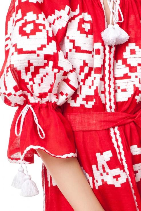 """Red Sea"" maxi dress photo"