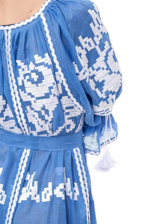 """Ocean"" blue maxi dress photo"