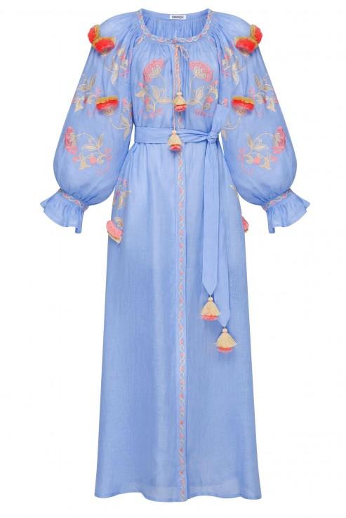"""Sunrise"" blue midi-dress"
