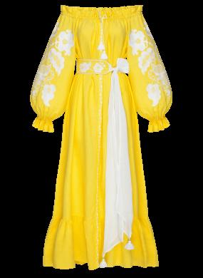 """""""Сiєста"""" жовта сукня-максi"""