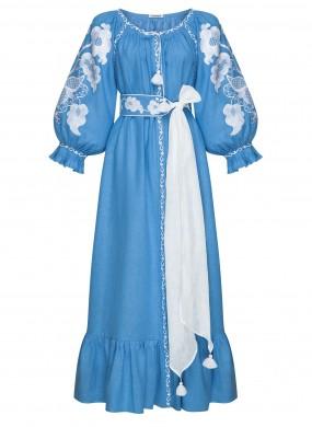 """Wave"" blue maxi-dress"