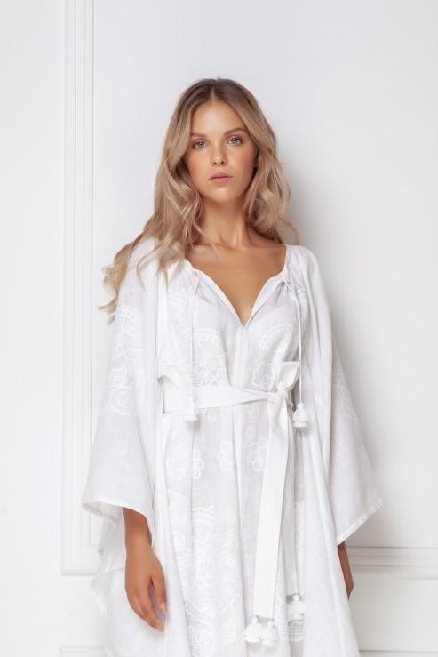 """Victory Chic"" white maxi dress photo"