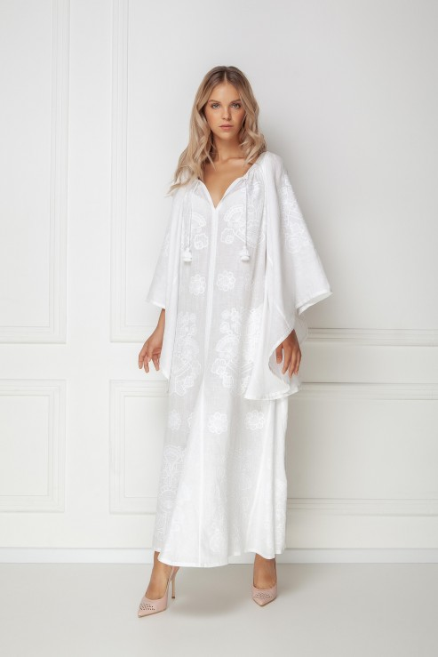 """Victory Chic"" white maxi dress"