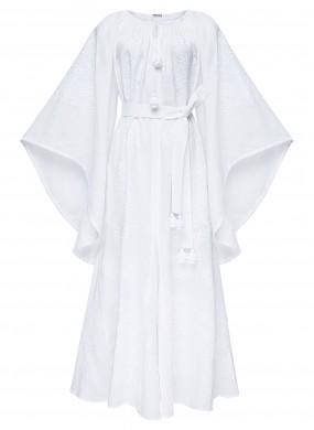 """Victory Chic"" white maxi dress"