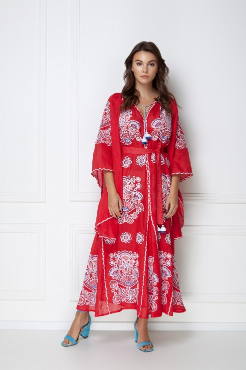 """""""Victory Chic"""" red maxi dress photo"""