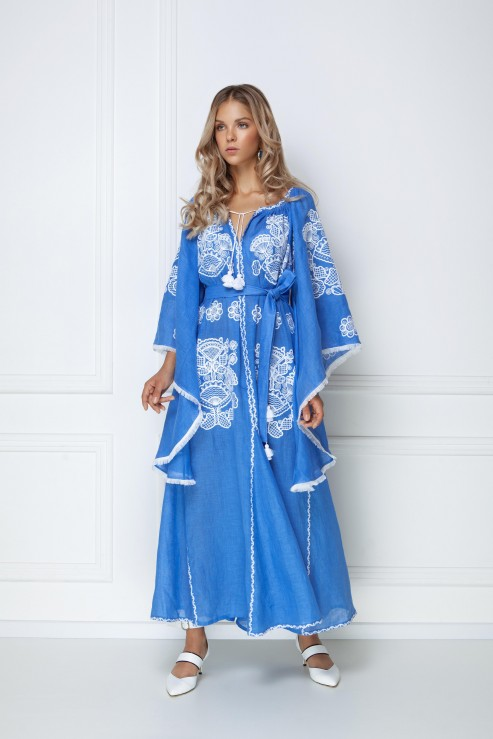 """Victory"" blue maxi dress photo"