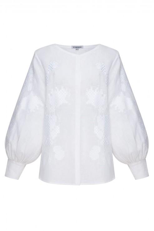 """""""Camelia"""" white blouse"""