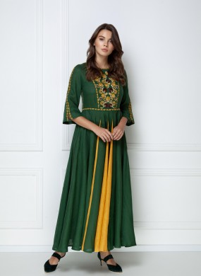 """Mary"" green maxi dress"