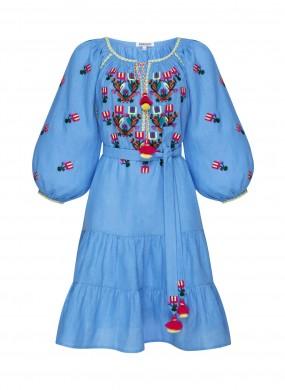 """Omelia"" blue mini dress"