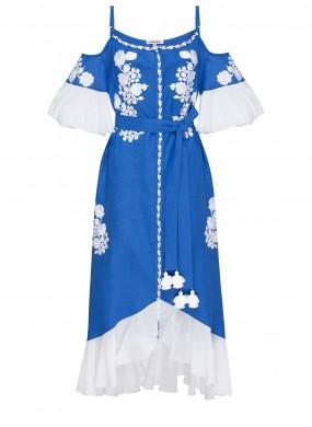 """Daisy"" blue sarafan with open sholders"