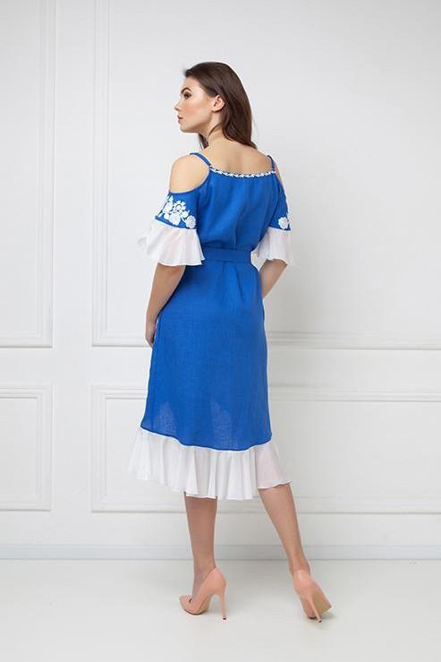"""Daisy"" blue sarafan with open sholders  photo"