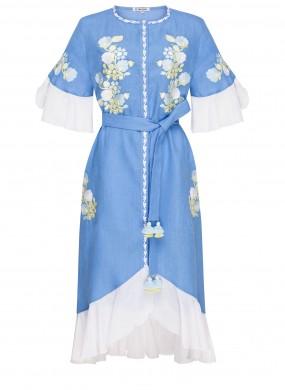 """Daisy"" dress blue"