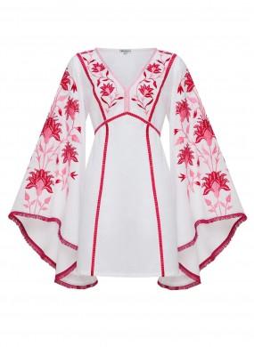 """""""Linda"""" white mini dress"""