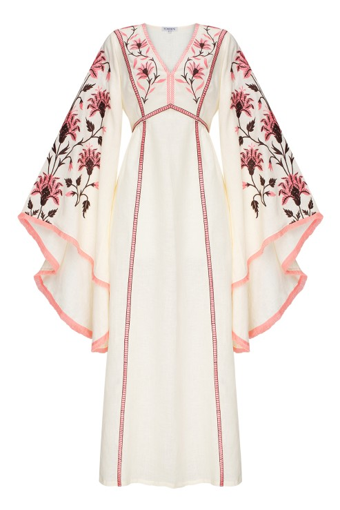 """Linda"" creamy maxi dress photo"