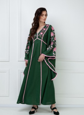 """Linda"" green maxi dress"