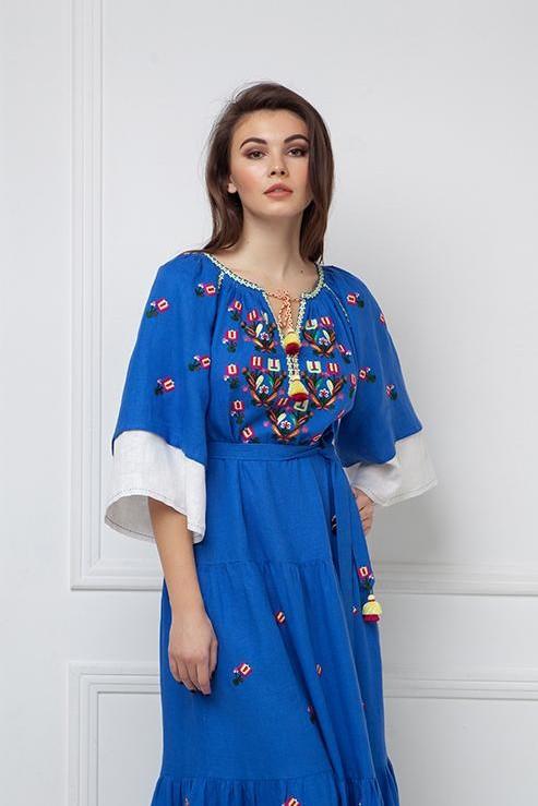 """Omelia Chic"" blue maxi dress photo"