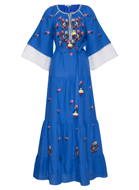 """Omelia Chic"" blue maxi dress"