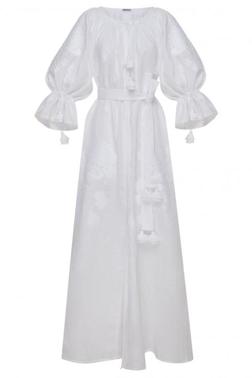 """Camelia"" white maxi dress"